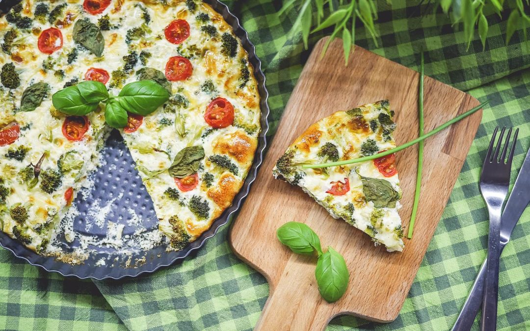 Sweet potato and zucchini frittata