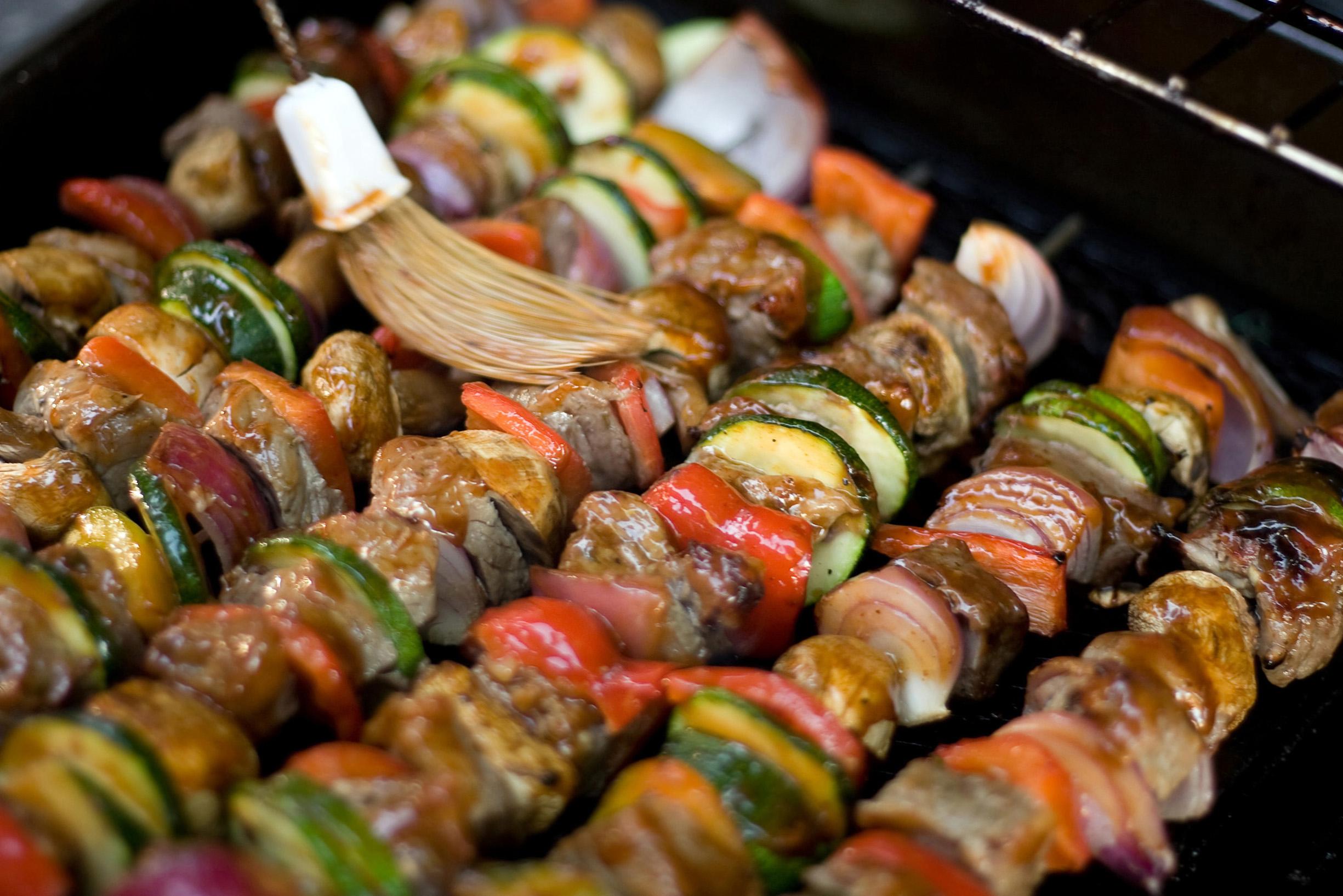 Beef Kebabs On Couscous Pilaf Melanie Mcgrice