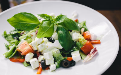 Feta and Basil Greek Salad