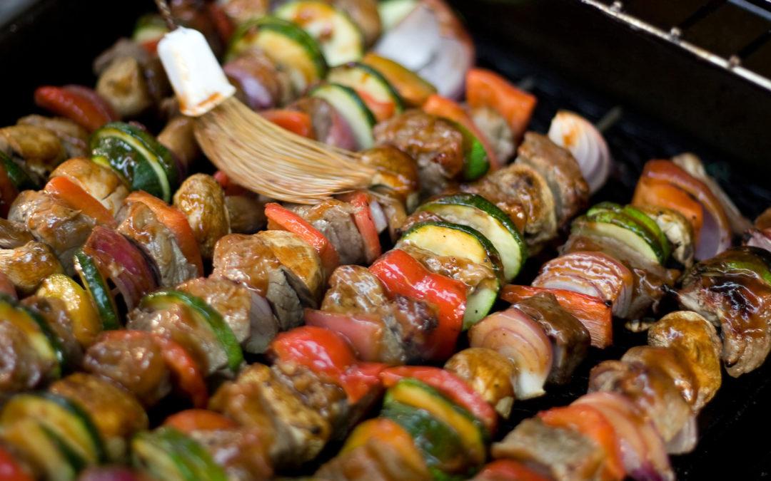 Beef Kebabs on Couscous Pilaf