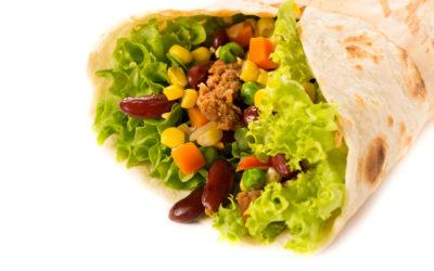Mince & Kidney Bean Burritos