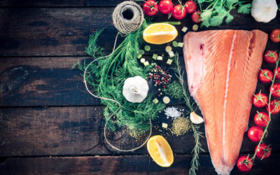 Oven Roasted Salmon with Lemon & Dill Crust