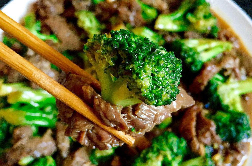 Teriyaki Beef with Sesame Greens